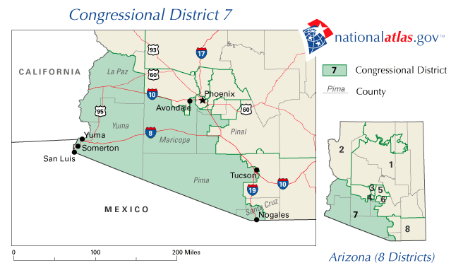 Map Of Arizona Congressional Districts.File Az Districts 109 07 Png Wikimedia Commons