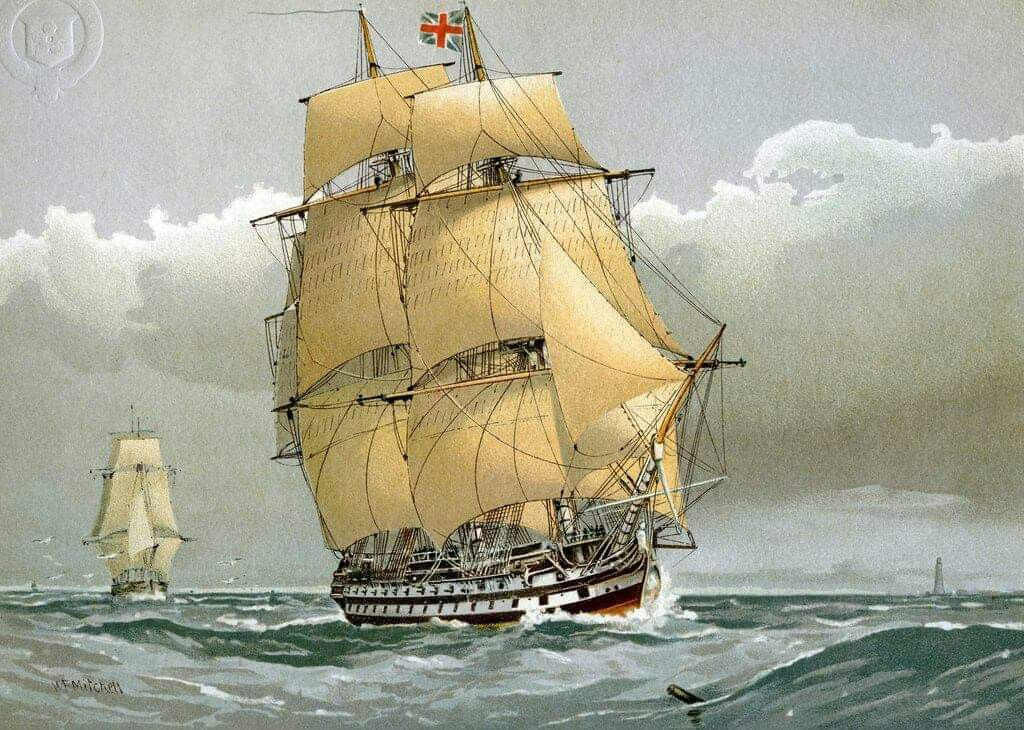 A_74_gun_Royal_Navy_ship_of_the_line,_c1