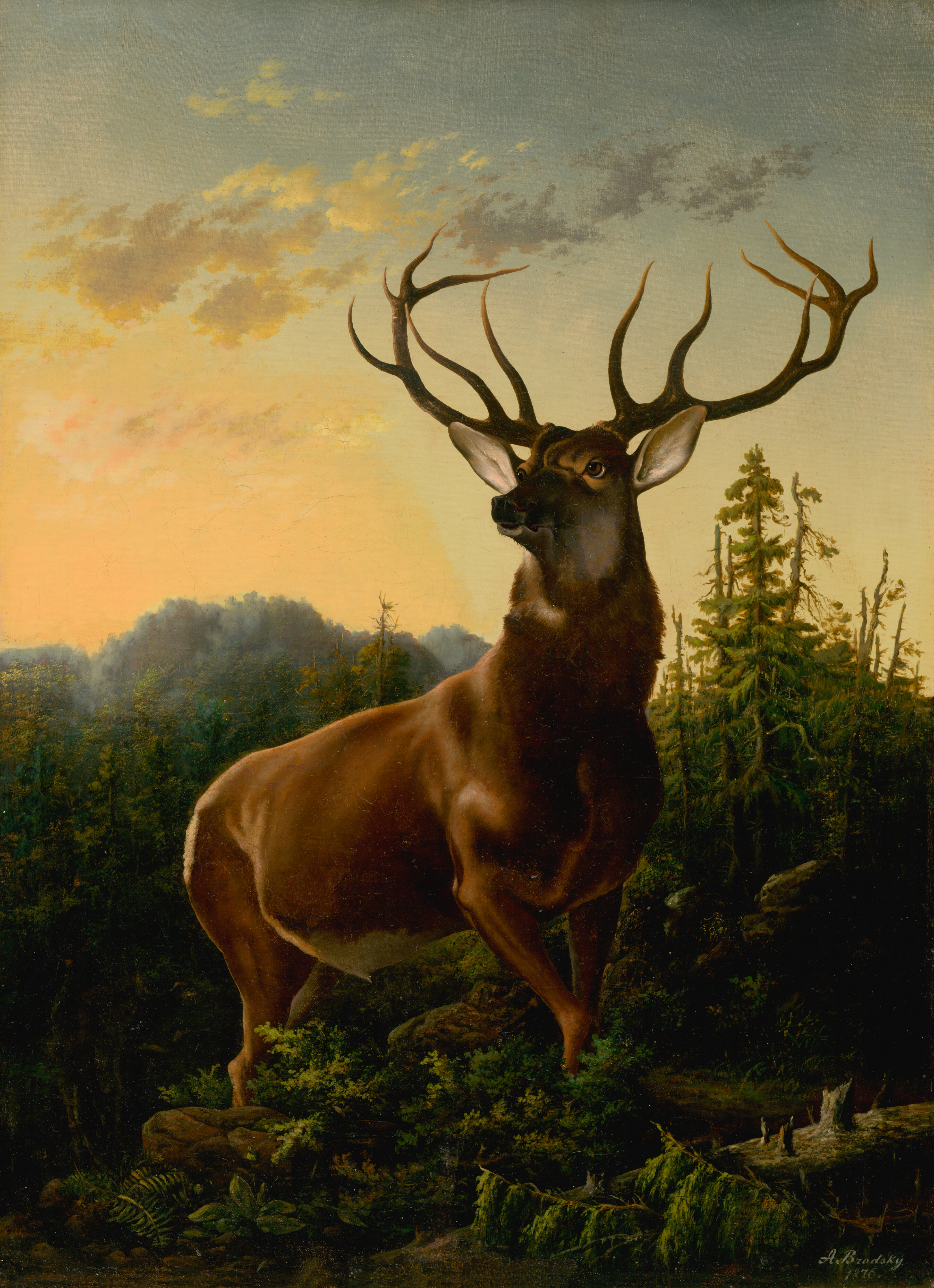 O Deer File:Alexander Brodszky - Deer in Forest Landscape - O 561 - Slovak  National Gallery.jpg