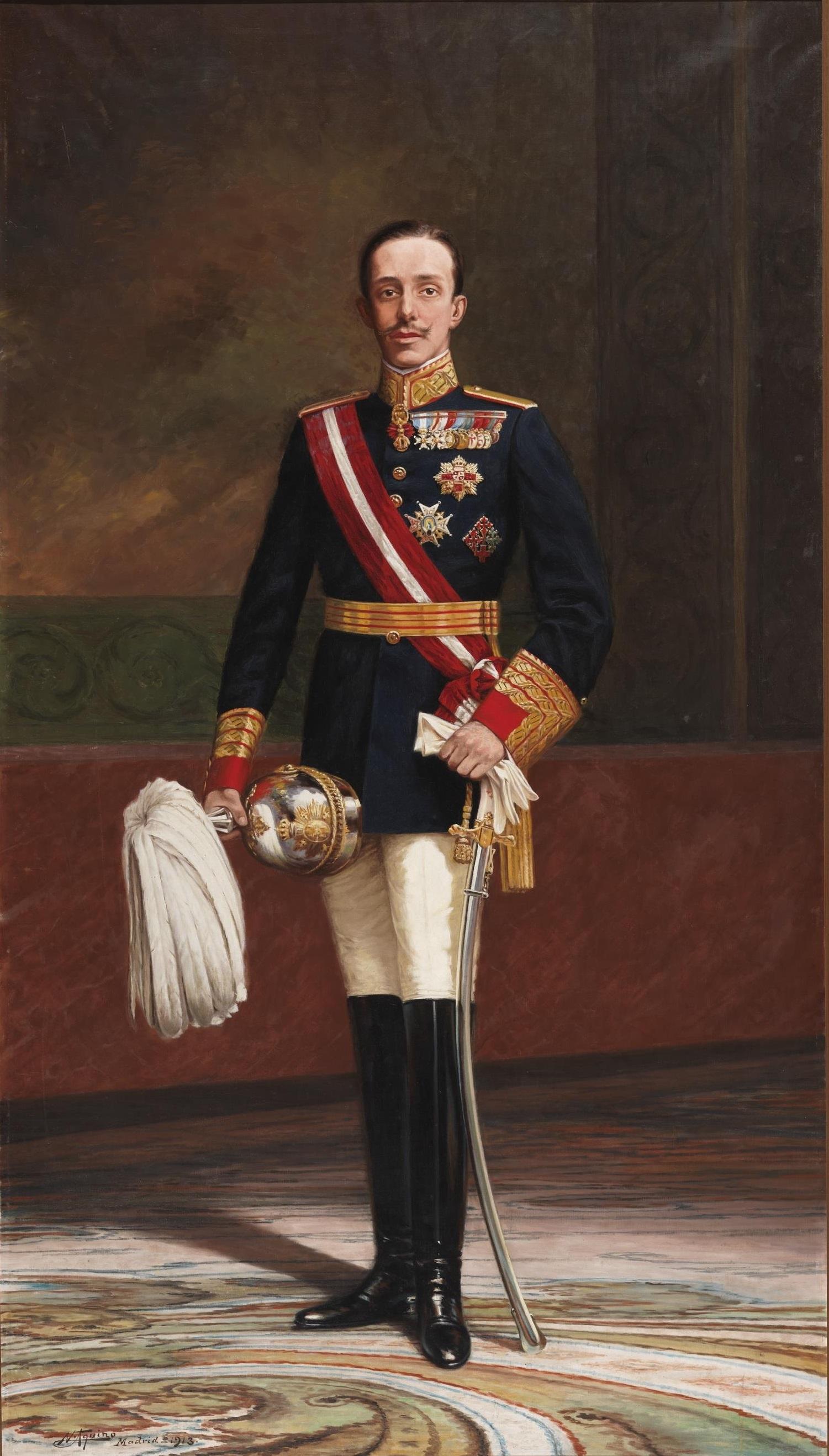 Alfonso XIII con uniforme de capitán general
