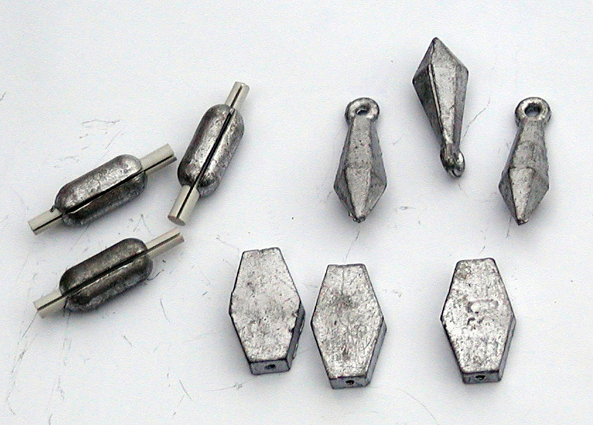 Fishing sinker wikipedia for Types of fishing sinkers