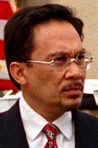 English: Malaysian Deputy Prime Minister Anwar...