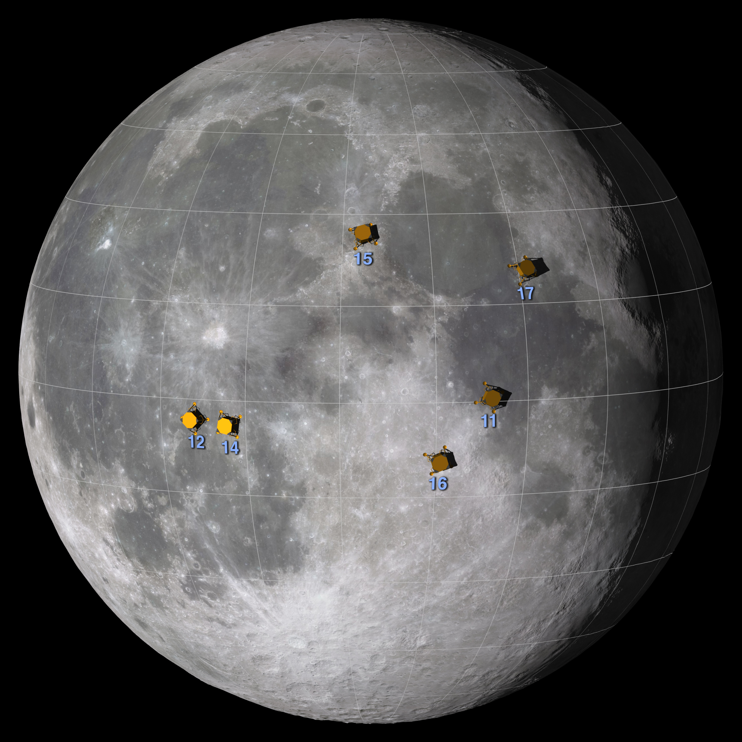 File:Apollo Landings by Nasa.jpg