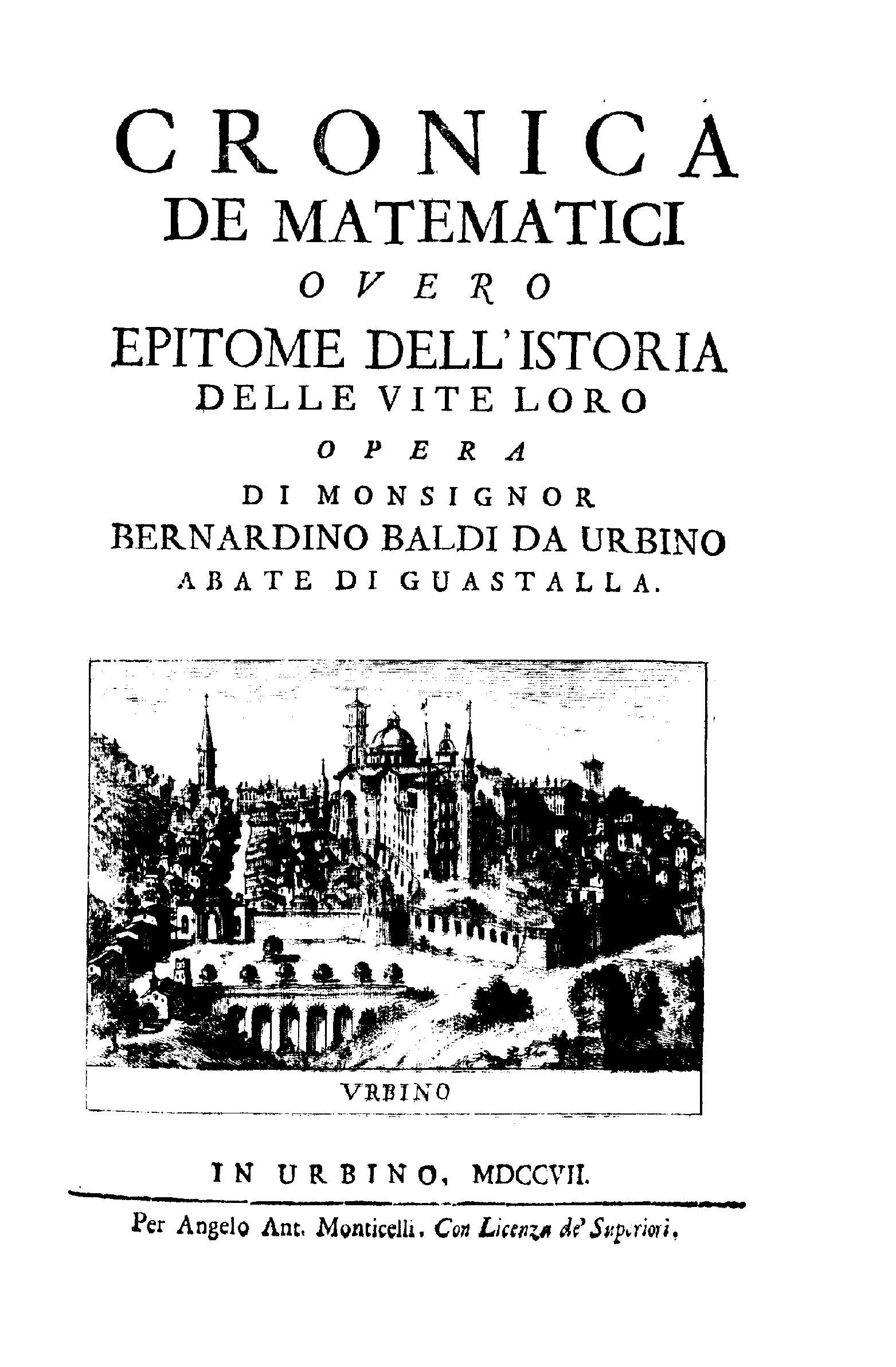 ''Cronica de matematici'', 1707