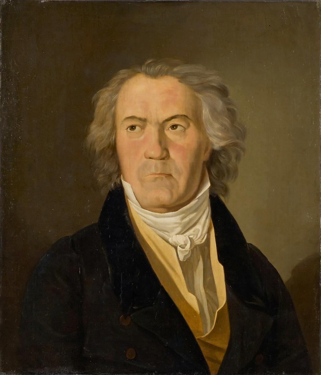 Beethoven en 1823, año en que terminó su <em>Novena sinfonía</em>. Retrato de Ferdinand Georg Waldmüller.
