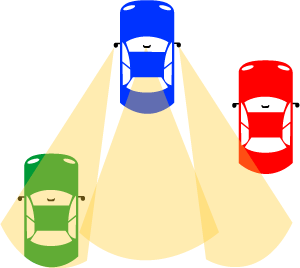 Blindspot three cars illus