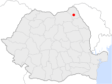 Location of Botoşani