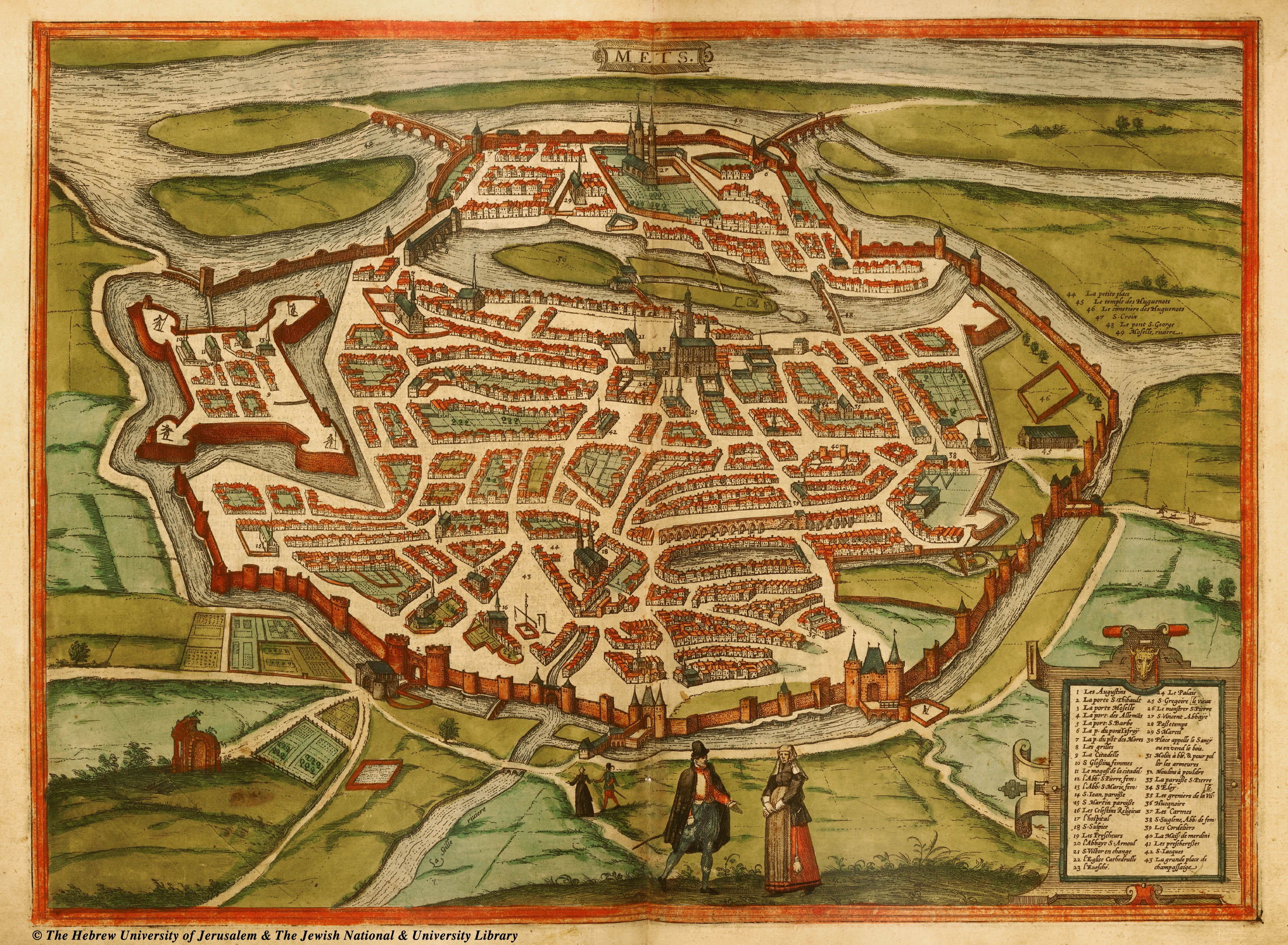 Metz, méconnue et absolument magnifique Braun_hogenberg_Metz_ca._1575