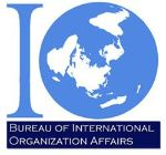 Logo of the Bureau of International Organization Affairs