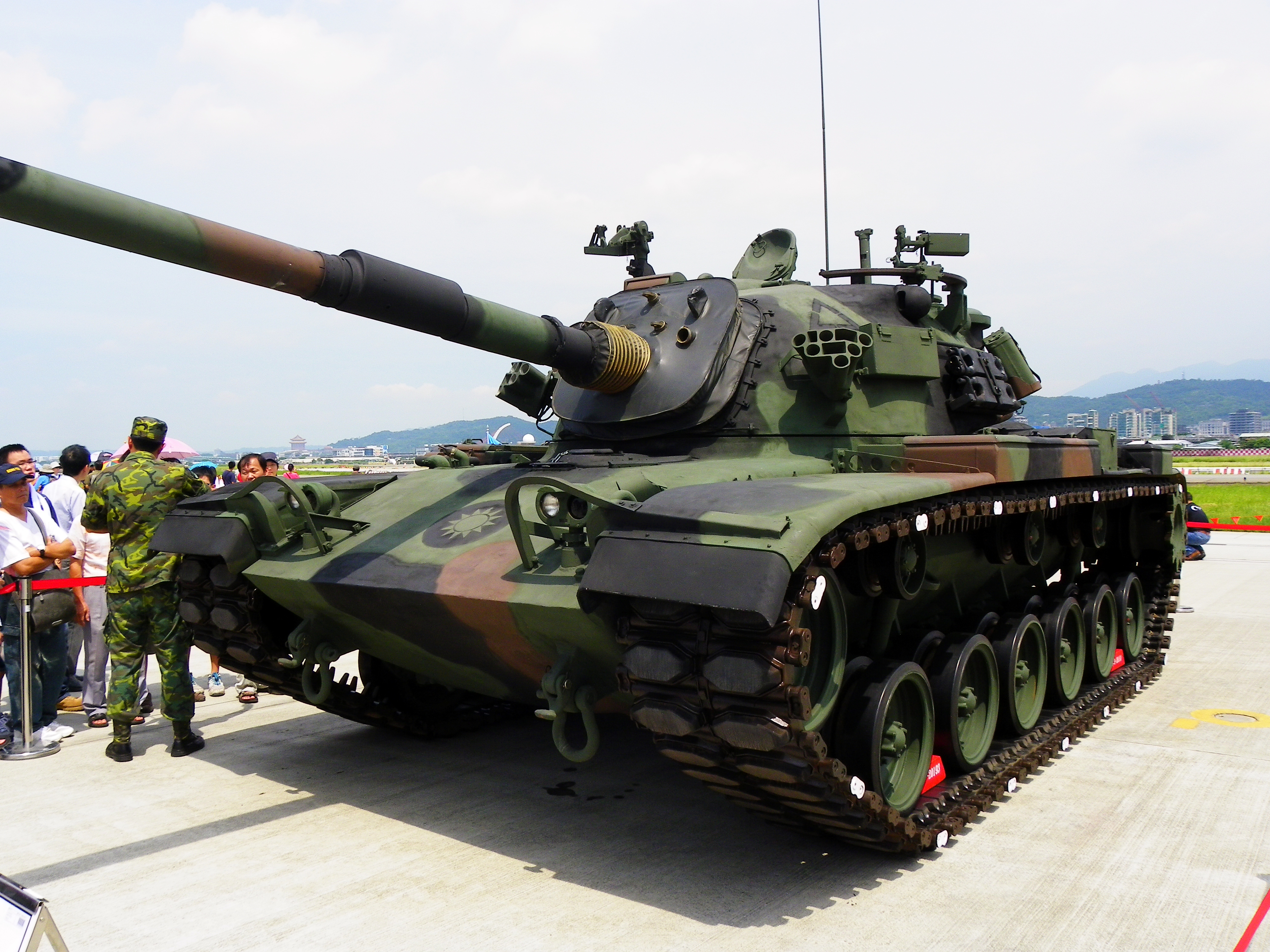 Description cm-11 tank in songshan air force base 20110813