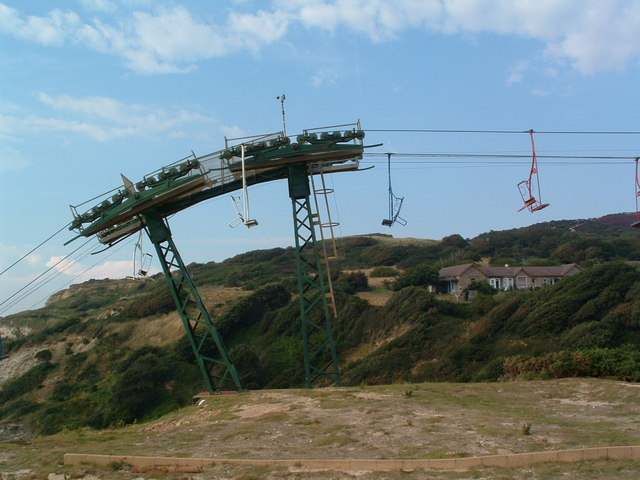 Chairlift at The Needles - geograph.org.uk - 929165