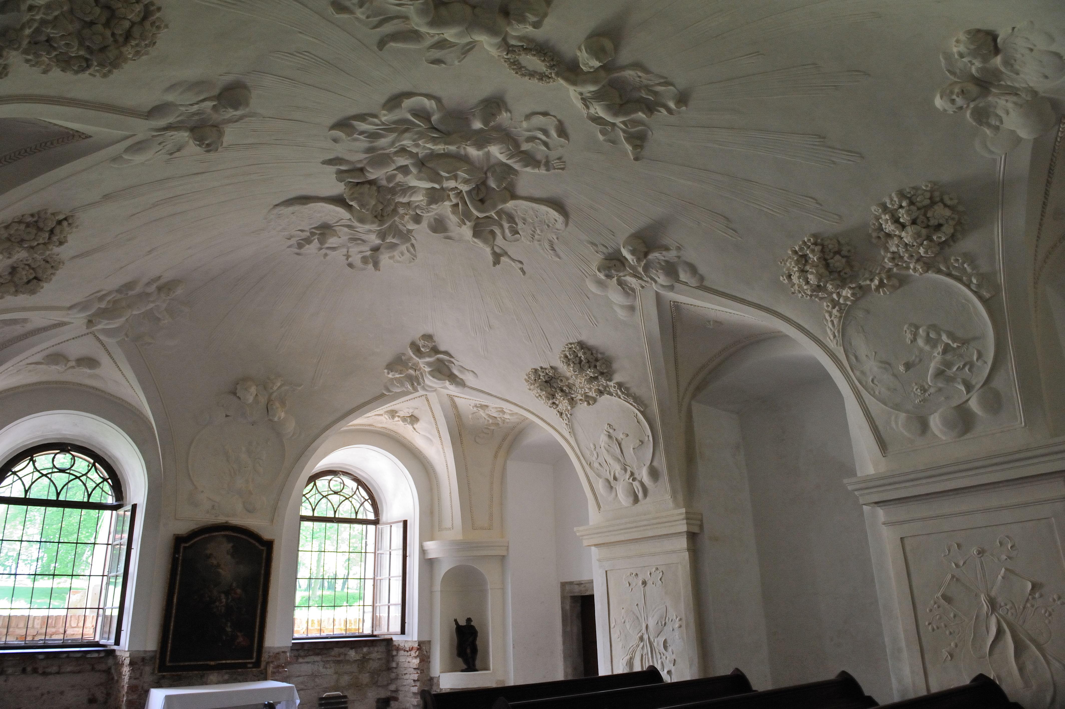 file:chapel of uherčice castle- stuck decoration - wikimedia