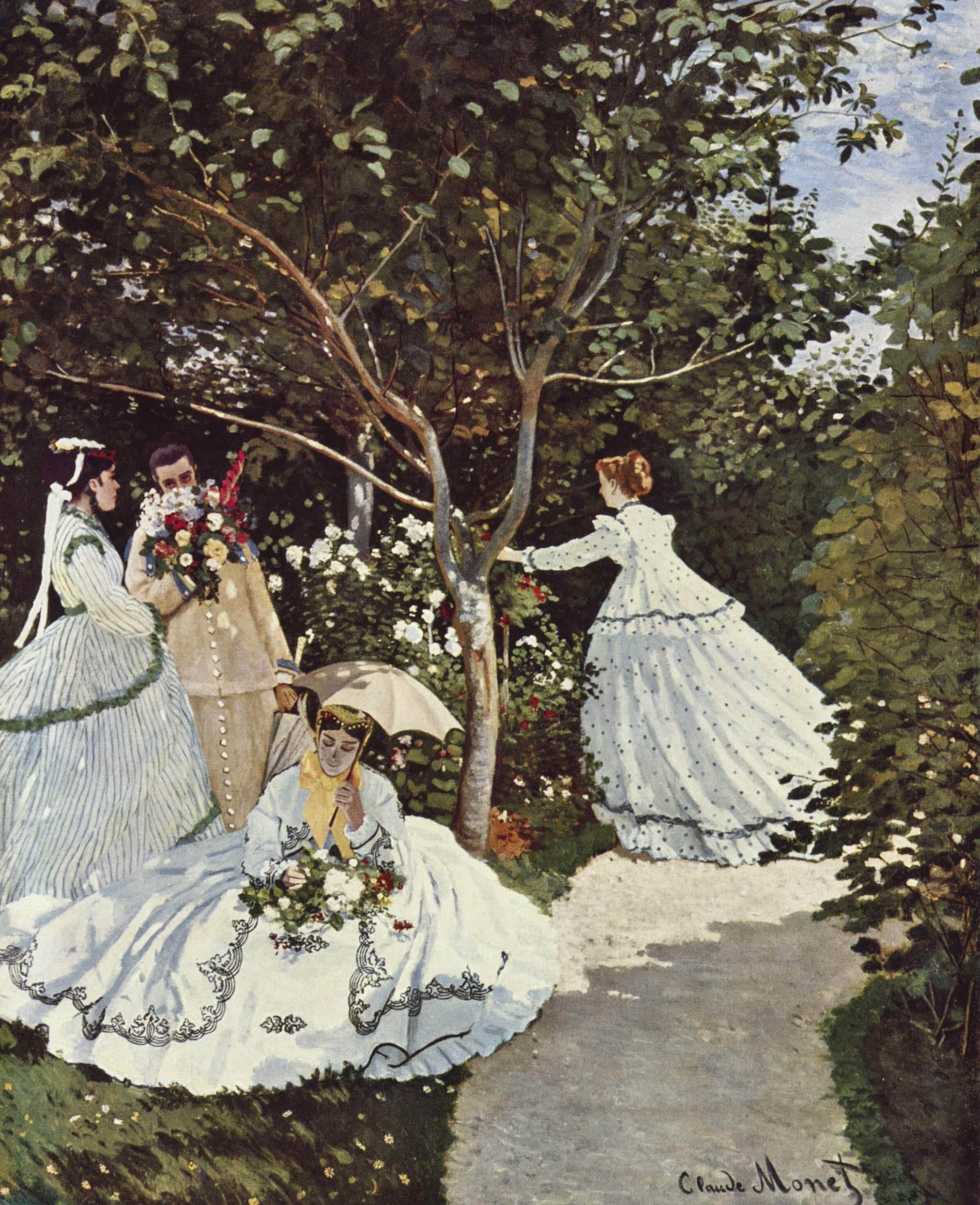 Claude monet femmes au jardin 1866 for Au jardin paris