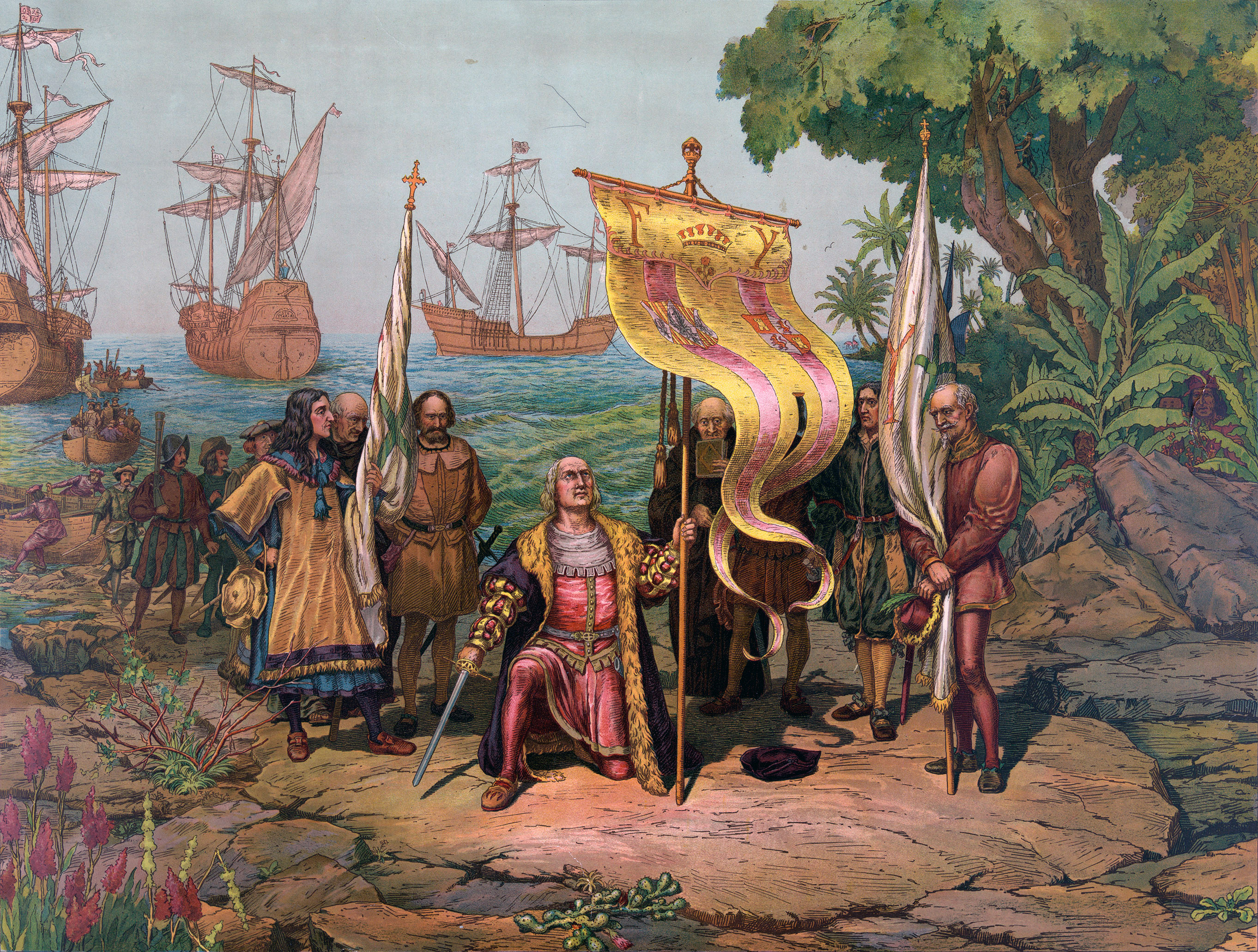 Image: Depiction of Columbus