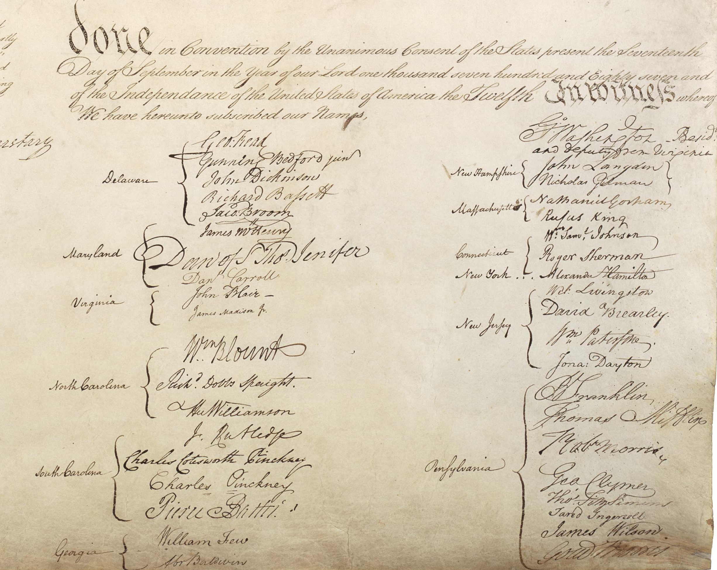 What type of document is the U.S. Constitution?
