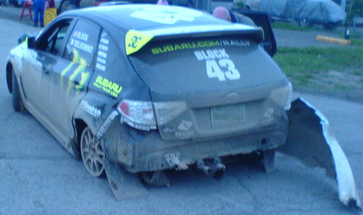 Description Crashed `08 Subaru Impreza WRX Rally -- Rear.JPG