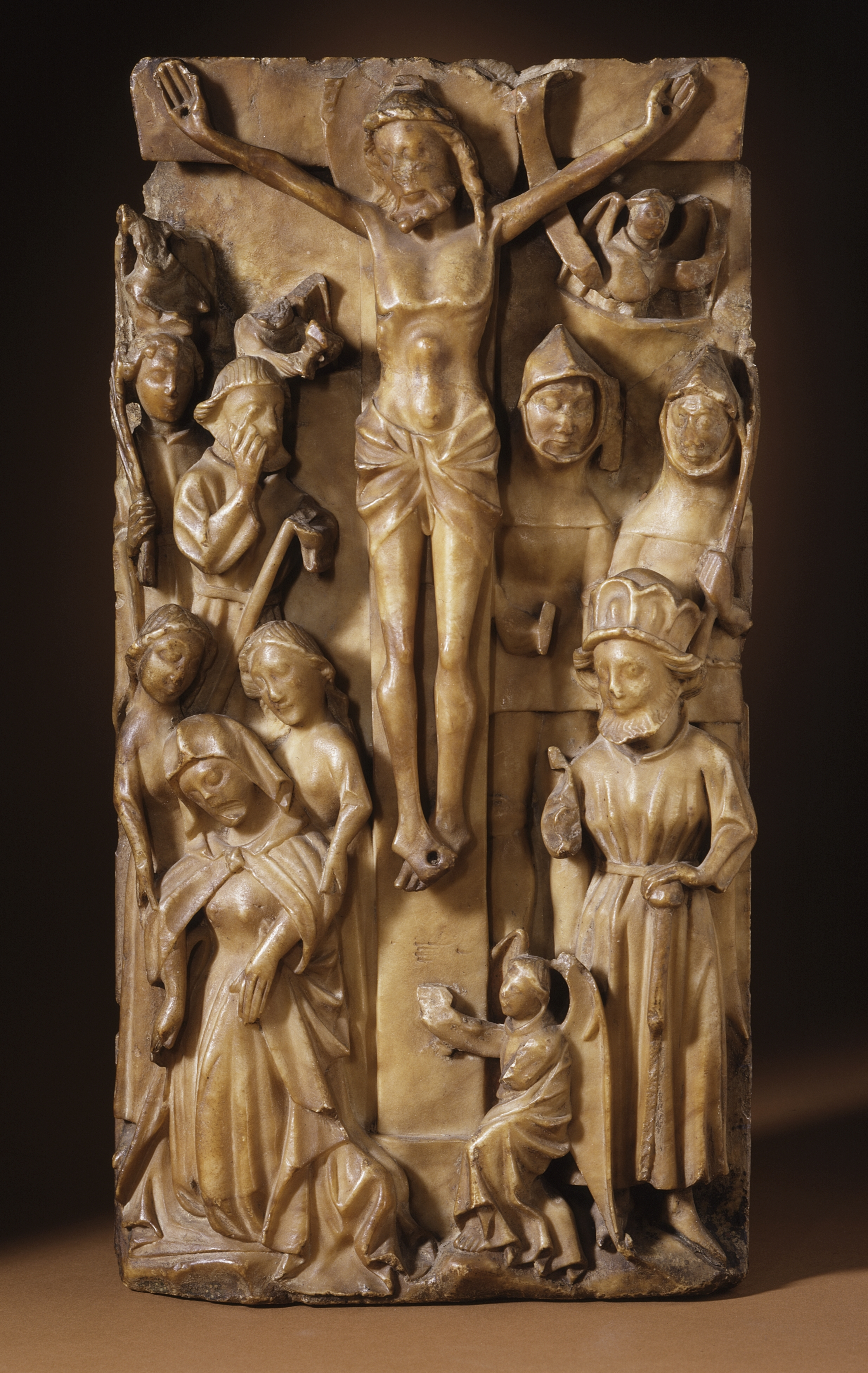File crucifixion alabaster relief medieval england