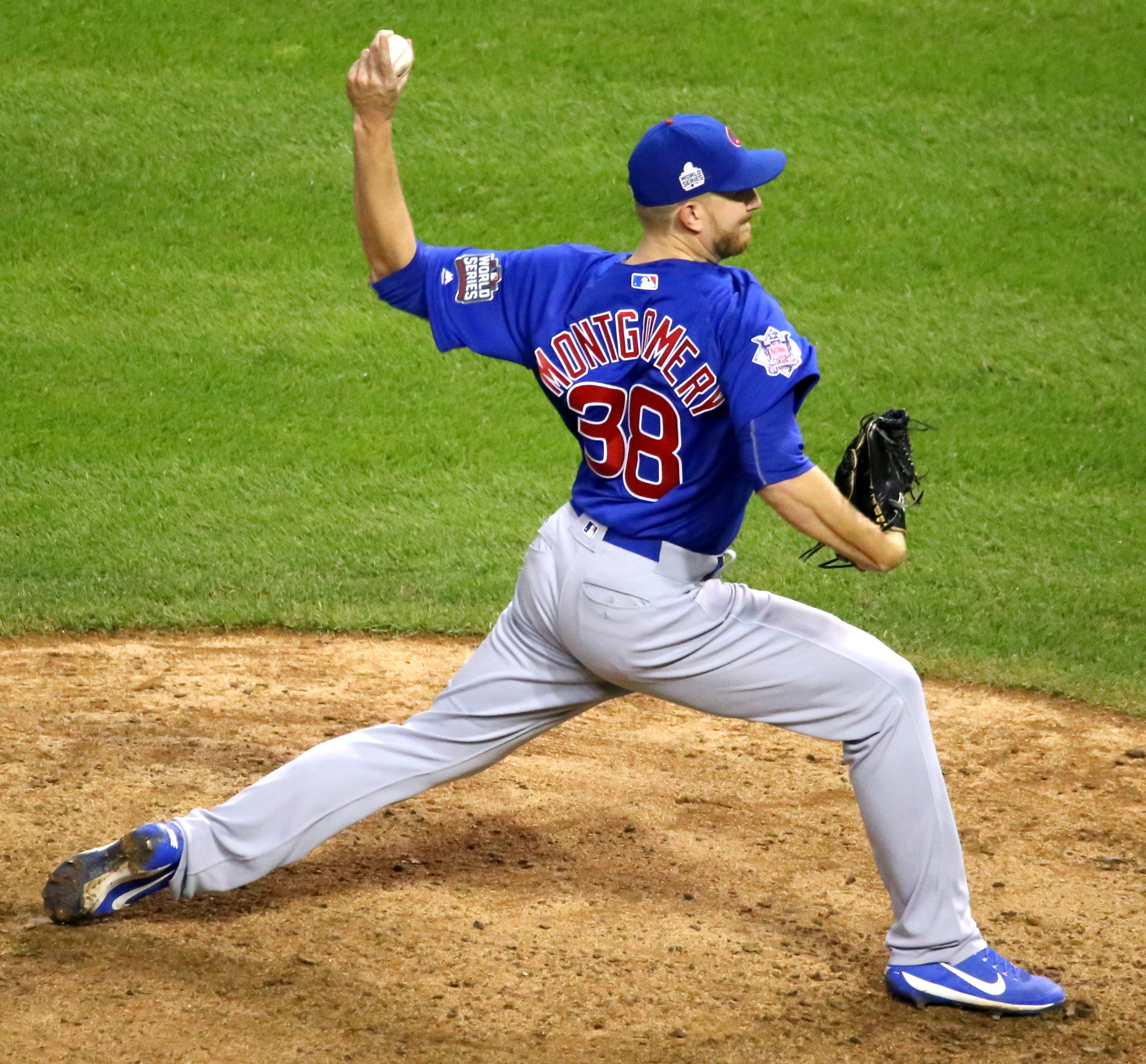 Mike Fiers In World Series: File:Cubs Reliever Mike Montgomery Delivers A Pitch In The