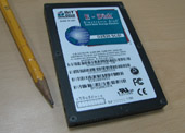 English: a 2.5 inch Solid state disk, E-disk f...