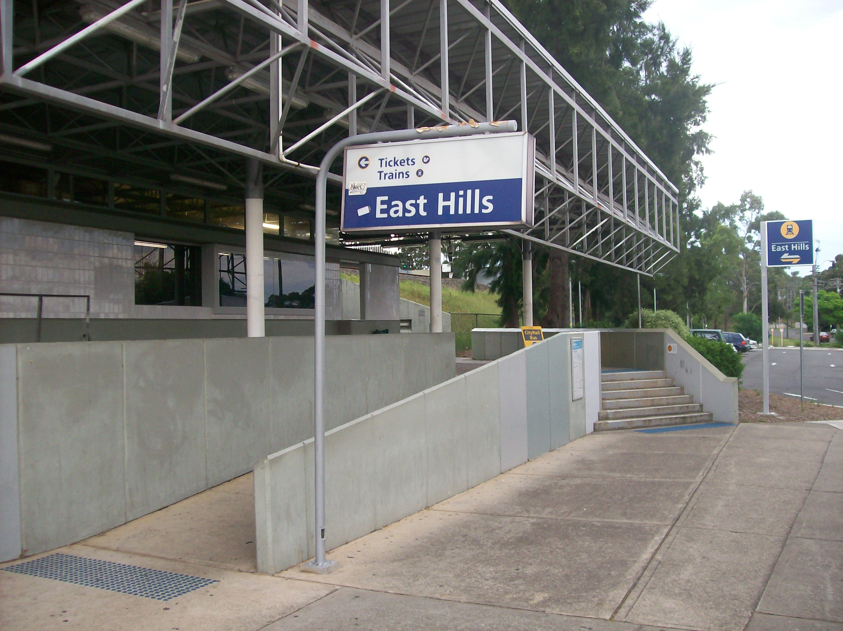 File east hills railway station entrance from west side