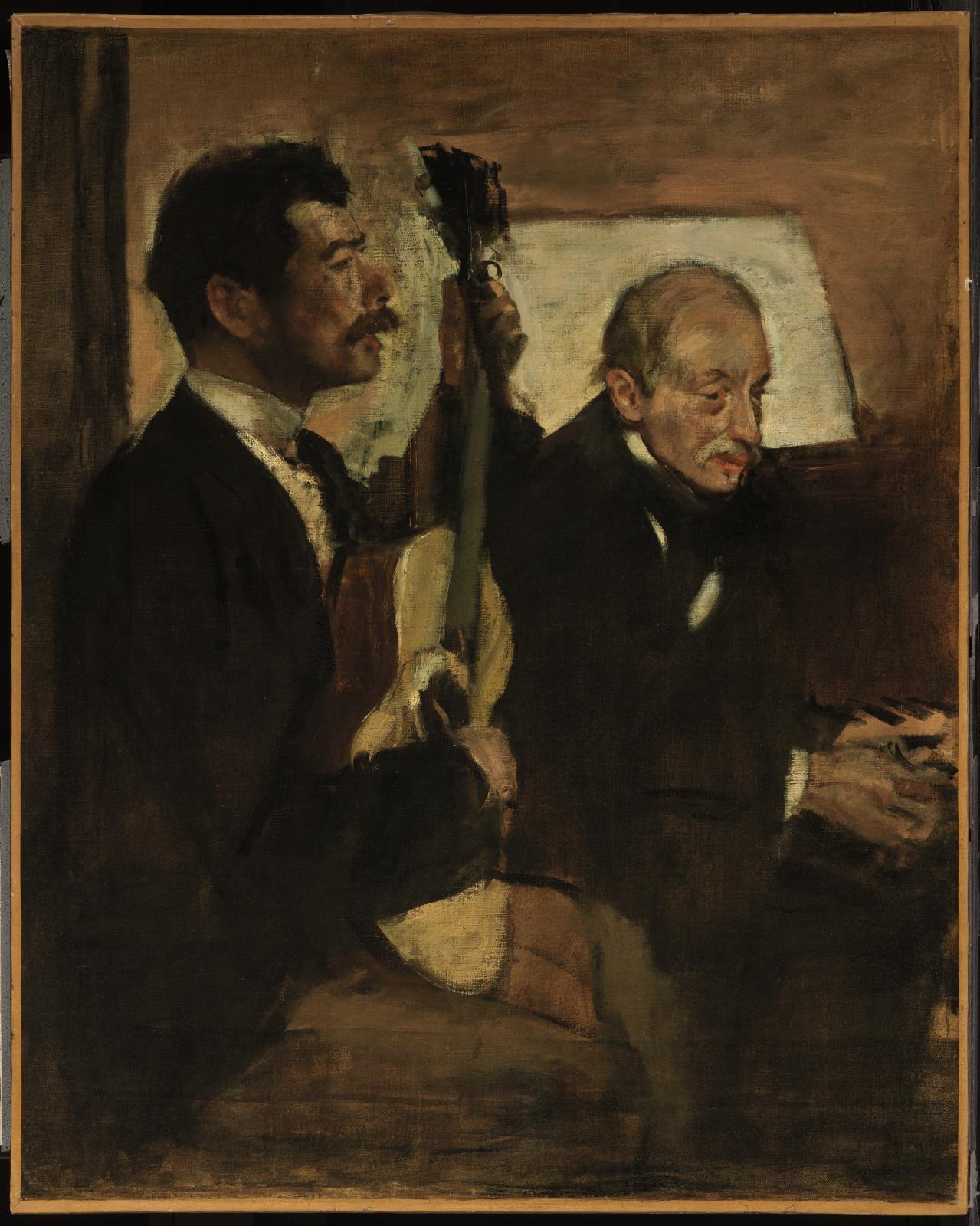 File:Edgar Degas - Degas's Father Listening to Lorenzo Pagans