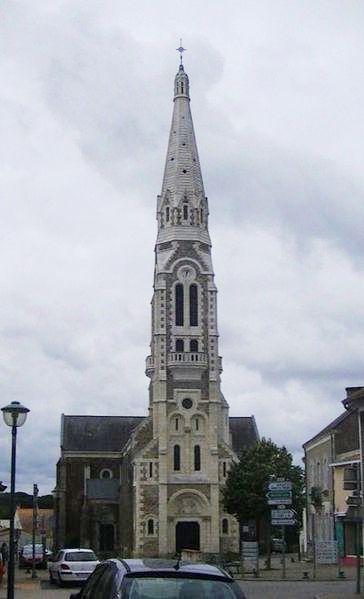 The Eglise de Brains, in the commune of Brains, Loire-Atlantique, France.