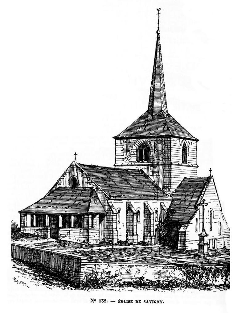 Villes et villages en cartes postales anciennes .. - Page 33 Eglise_de_Savigny_en_terre_Plaine,_Yonne_(8)