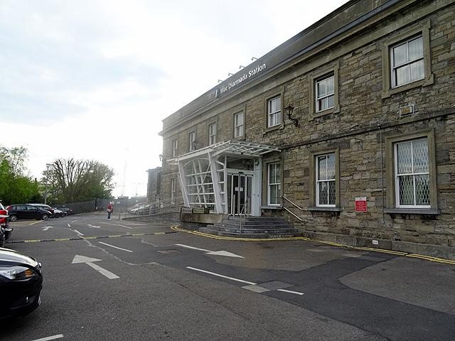 Entrance to Sligo Mac Diarmada railway station (geograph 4948976)