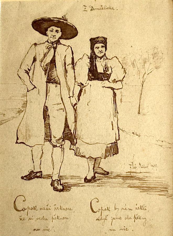 File Ferdinand Velc Z Domazlicka Kresba Tusem Jpg Wikimedia Commons