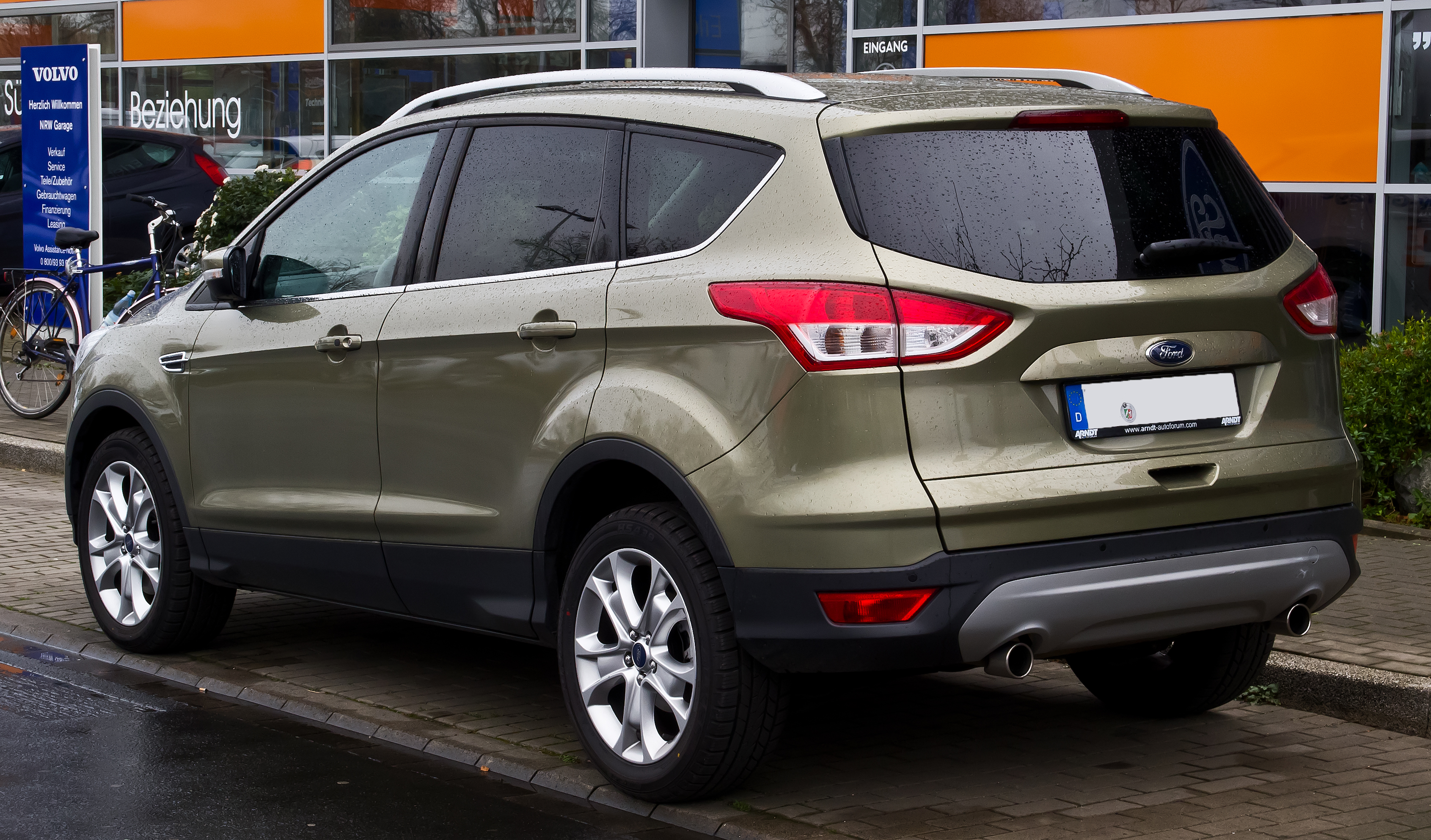 file ford kuga titanium ii heckansicht 22 m rz 2014 d wikimedia commons. Black Bedroom Furniture Sets. Home Design Ideas