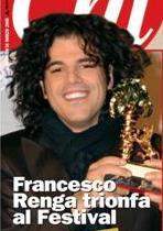 Francesco Renga dopo il Festival di Sanremo 2005 raffigurato nella rivista Chi