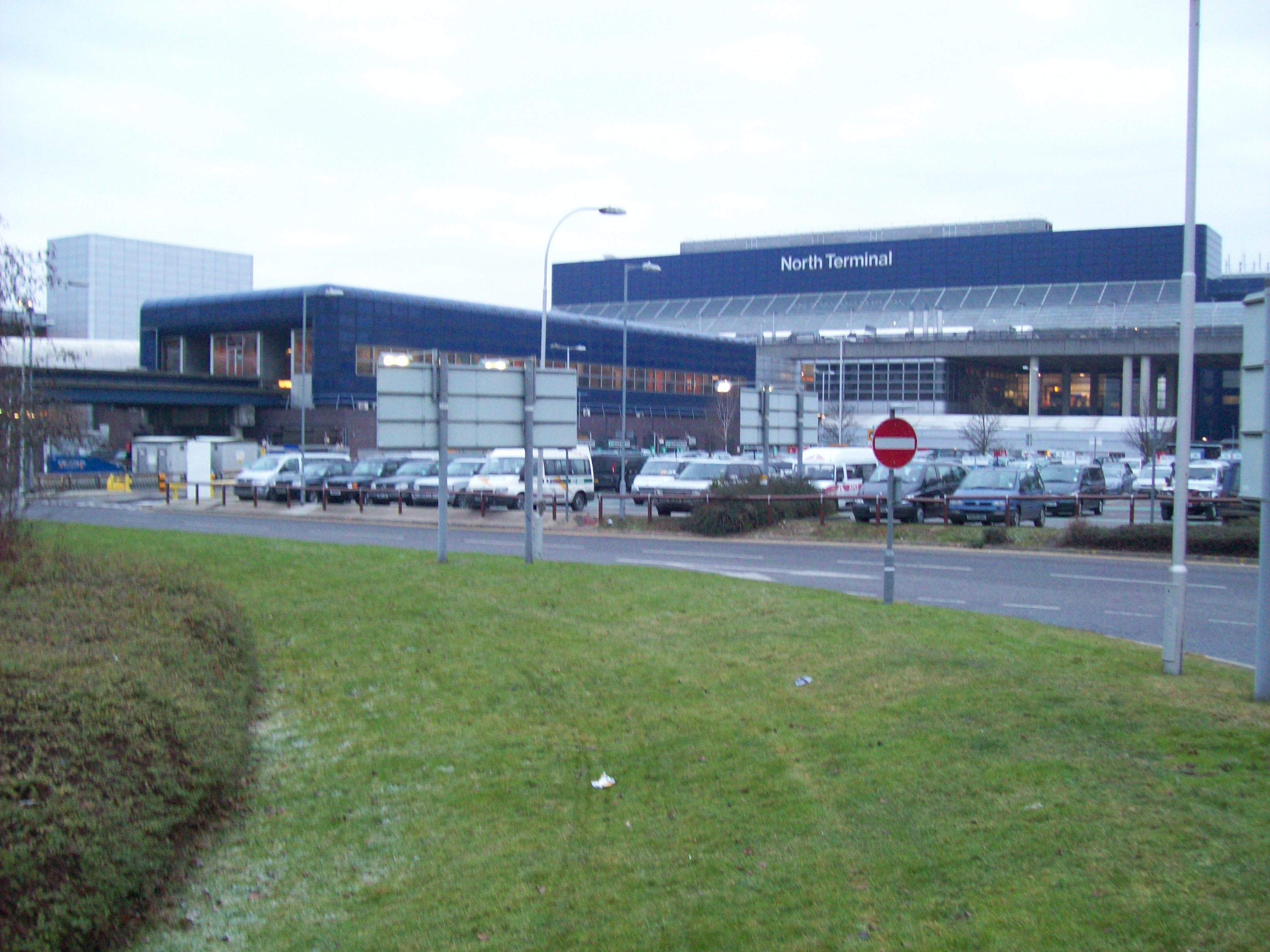 English: Gatwick's North Terminal building and...