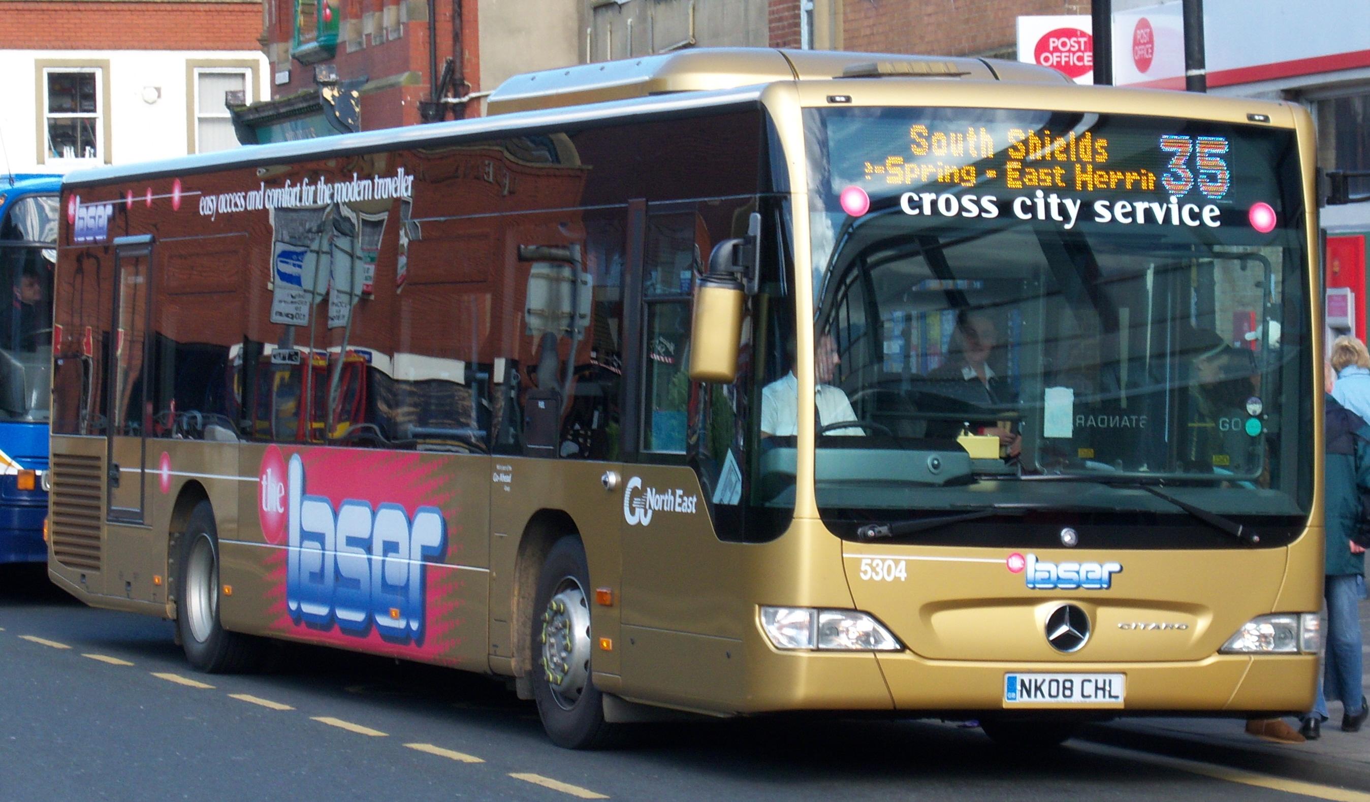 File go north east bus 5304 mercedes benz o530 citaro nk08 for Mercedes benz orlando north
