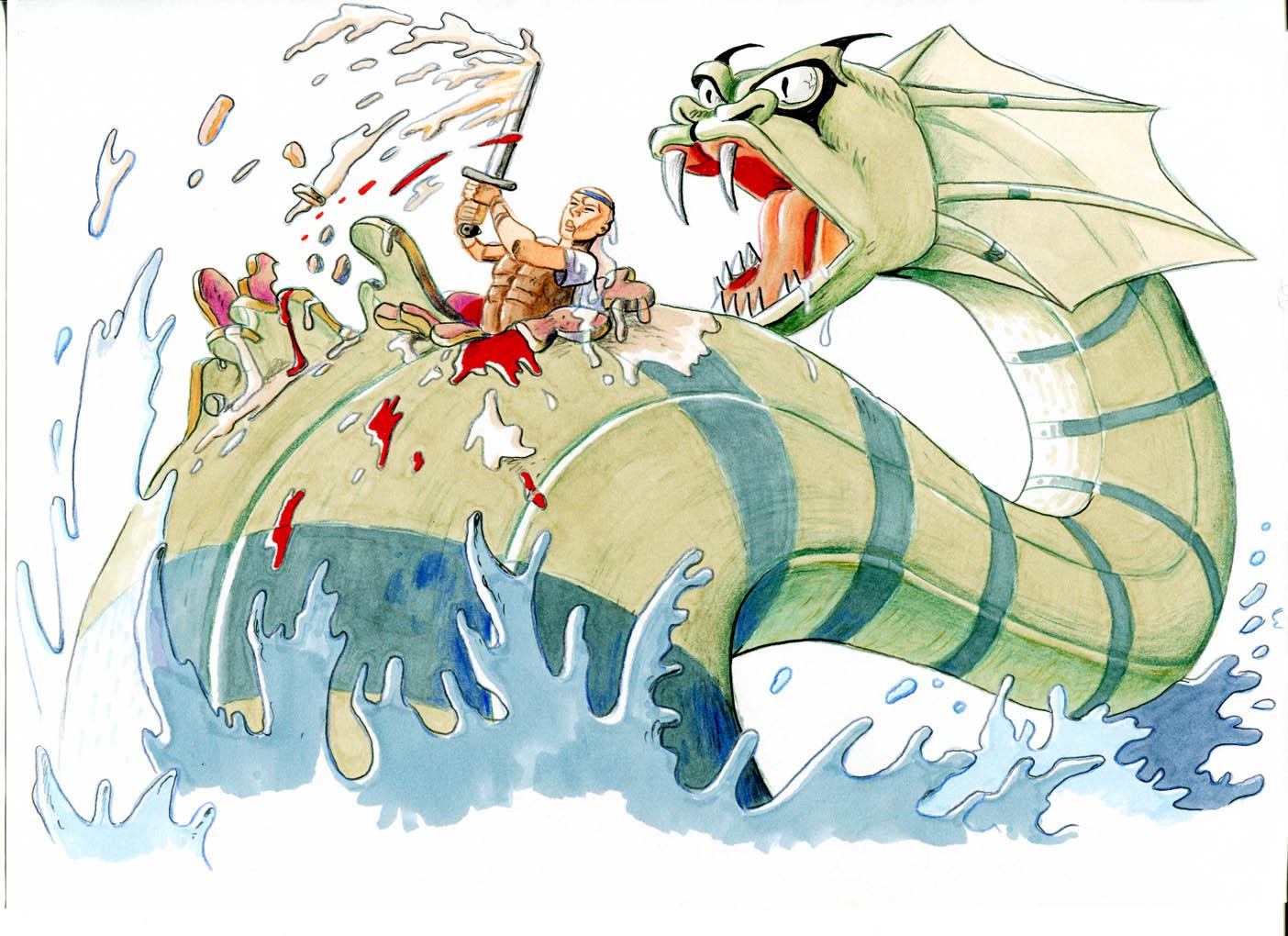 Herkules och sjöodjuret.