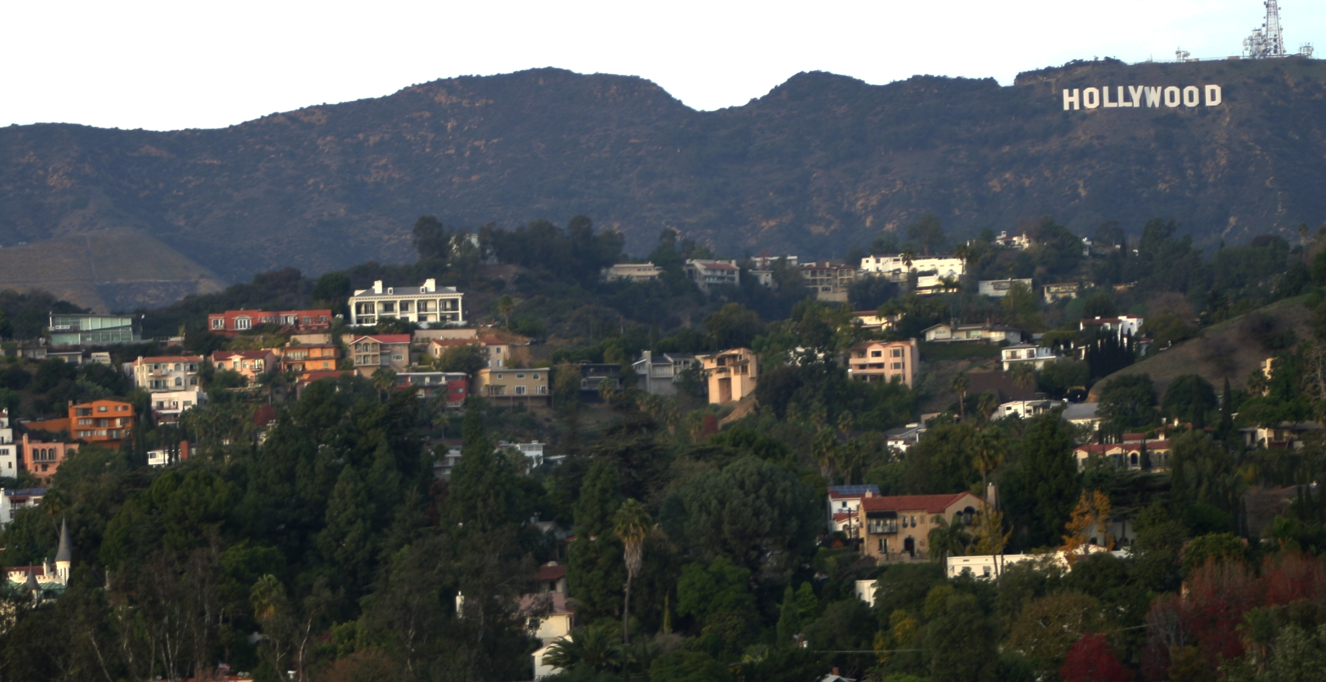 FileHollywood Hills With Hollywood Sign