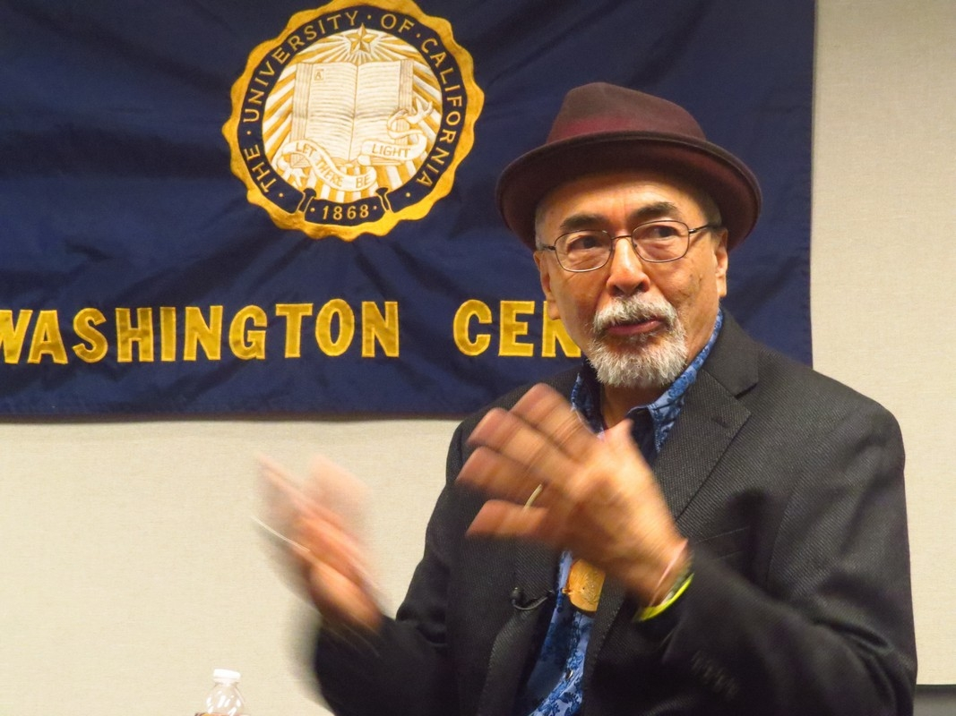 Juan Felipe Herrera at the [[University of California, Washington Center]], April 24,