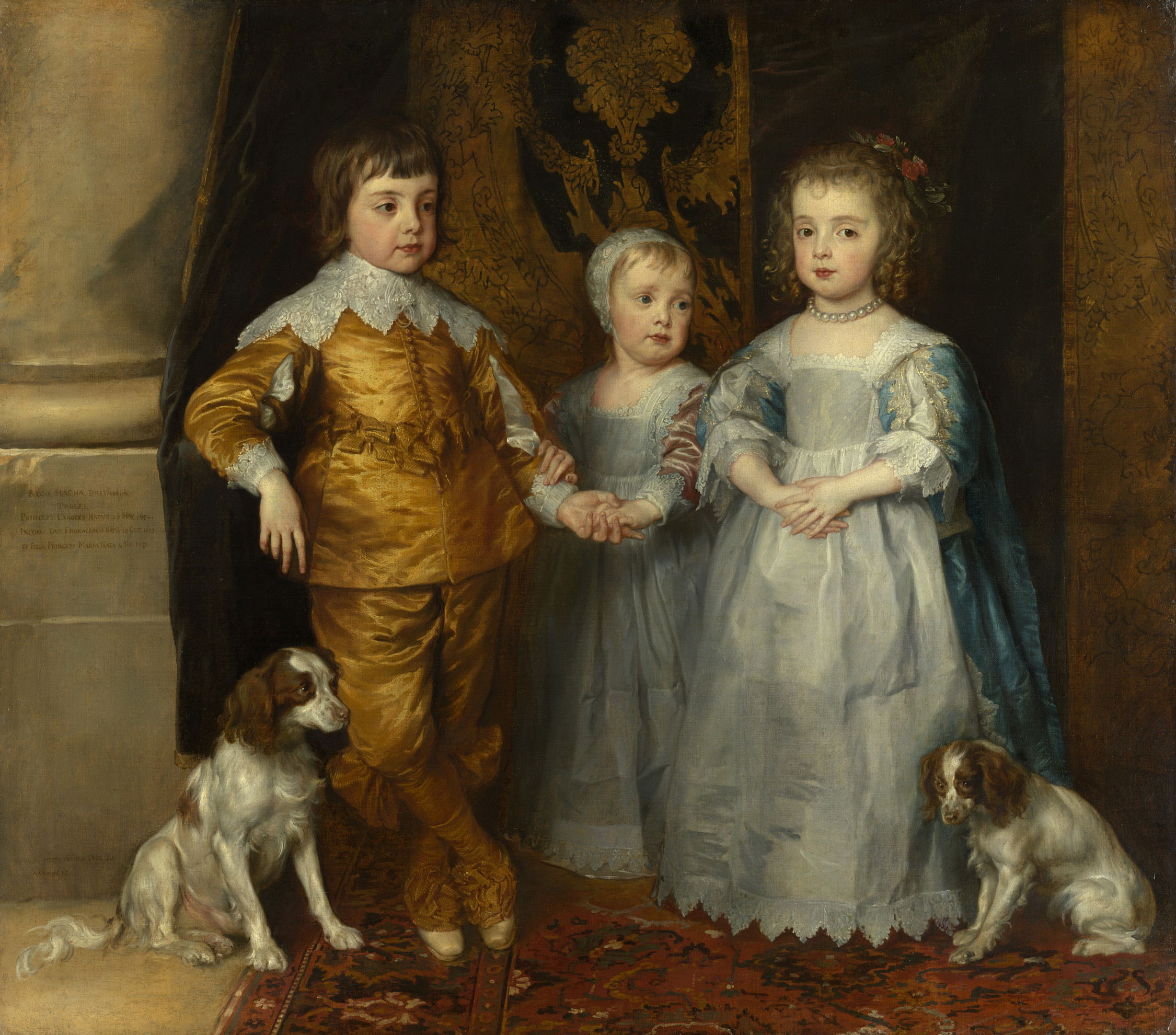 Young King Charles II of England with his spaniel. 17th century. Royal Collection. Anthony van Dyck (1599–1641)