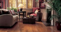 It can be tough to switch out flooring in sunken living rooms.