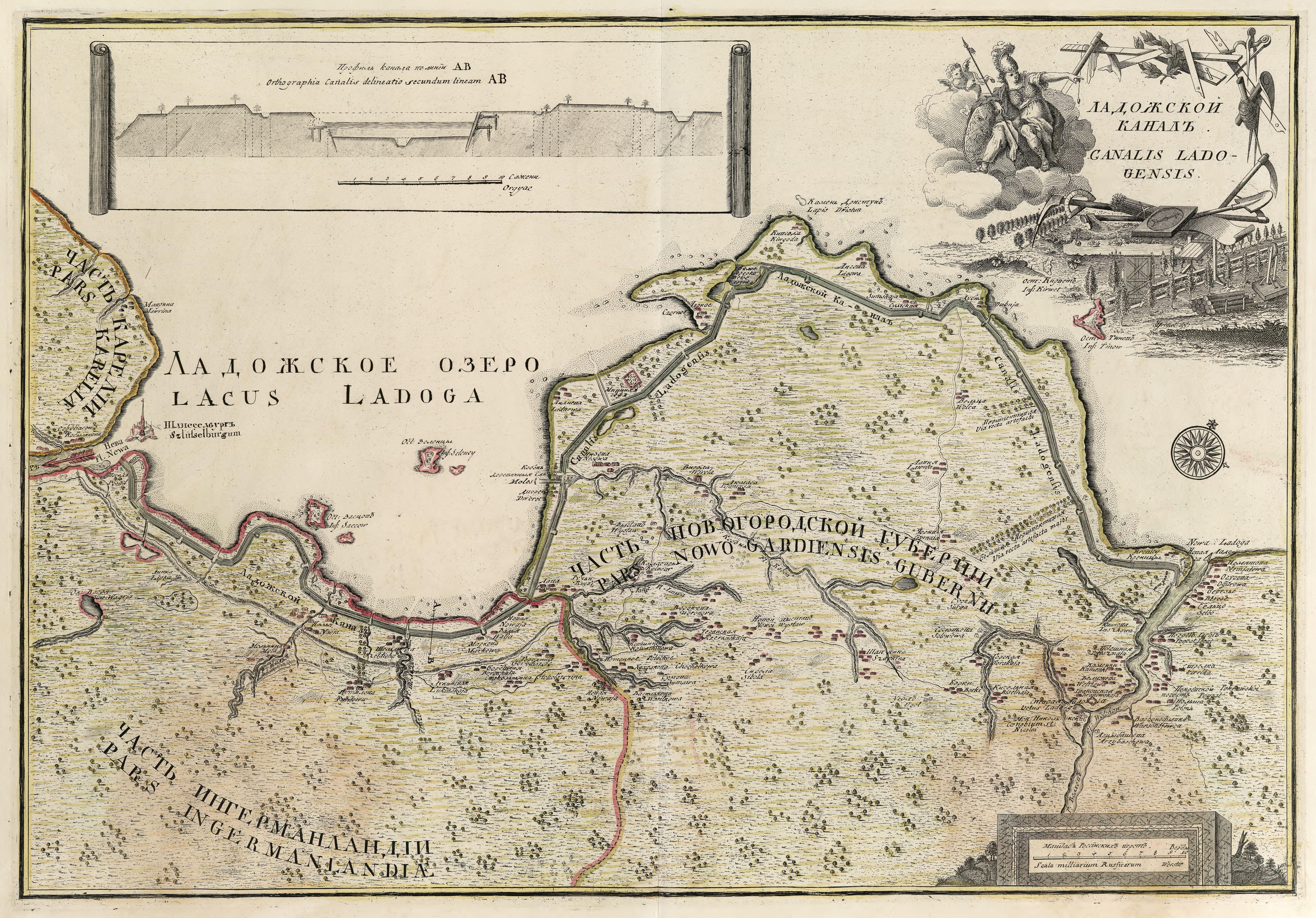 Карта канала Императора Петра Великого (1741—1742)