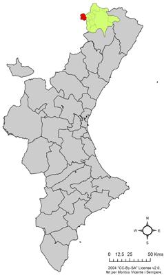Vị trí của Olocau del Rey