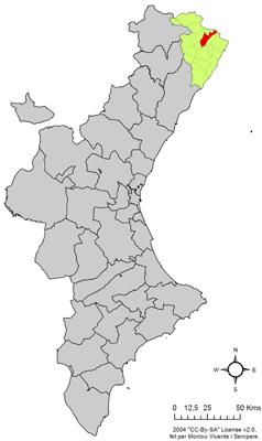 Vị trí của Traiguera