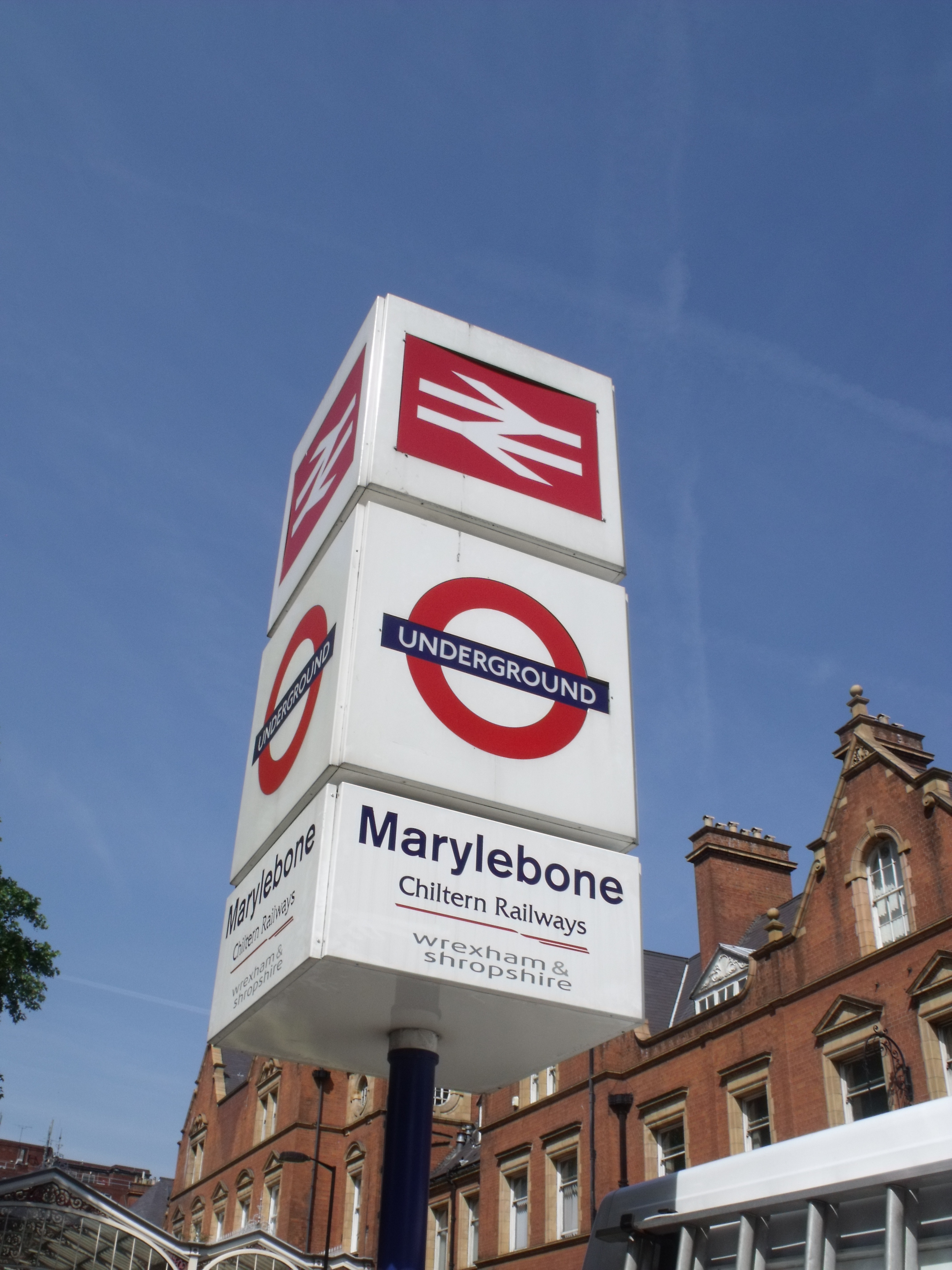 File:London Marylebone Station - main sign - British Rail and