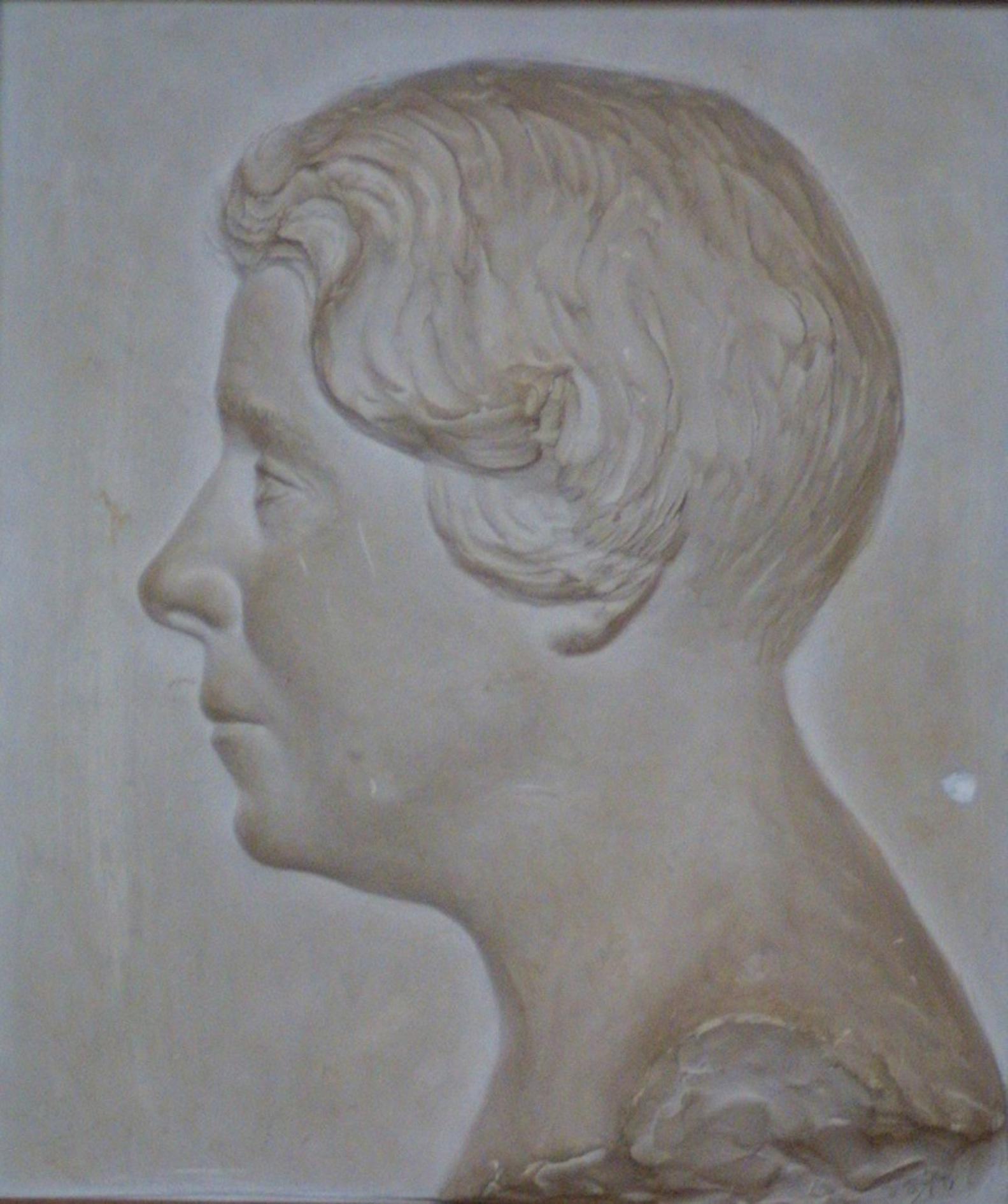 Fichiermarie Renée Ucciani Bas Relief 1933 Moulage En Plâtre