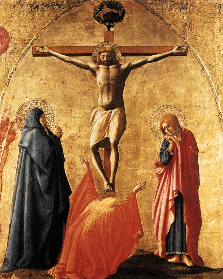 Art history symbolism and legends red mary magdalenes case crucifixion by masaccio museo di capodimonte naplespublic domain via wikimedia commons buycottarizona