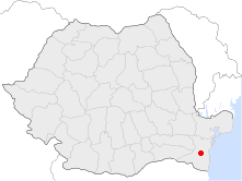 Location of Medgidia