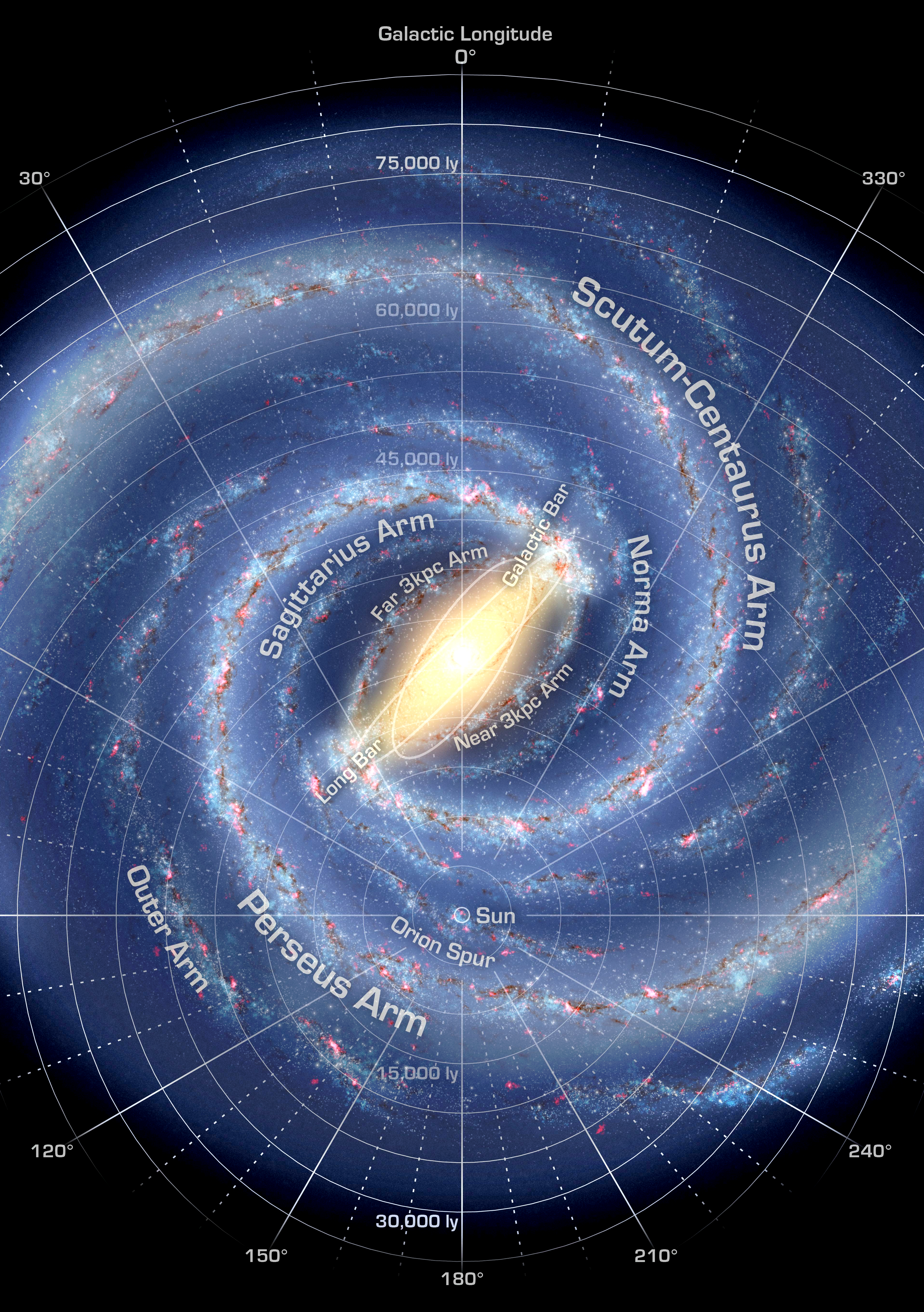 Map Of Milky Way File:Milky Way Map A5.png   Wikimedia Commons Map Of Milky Way