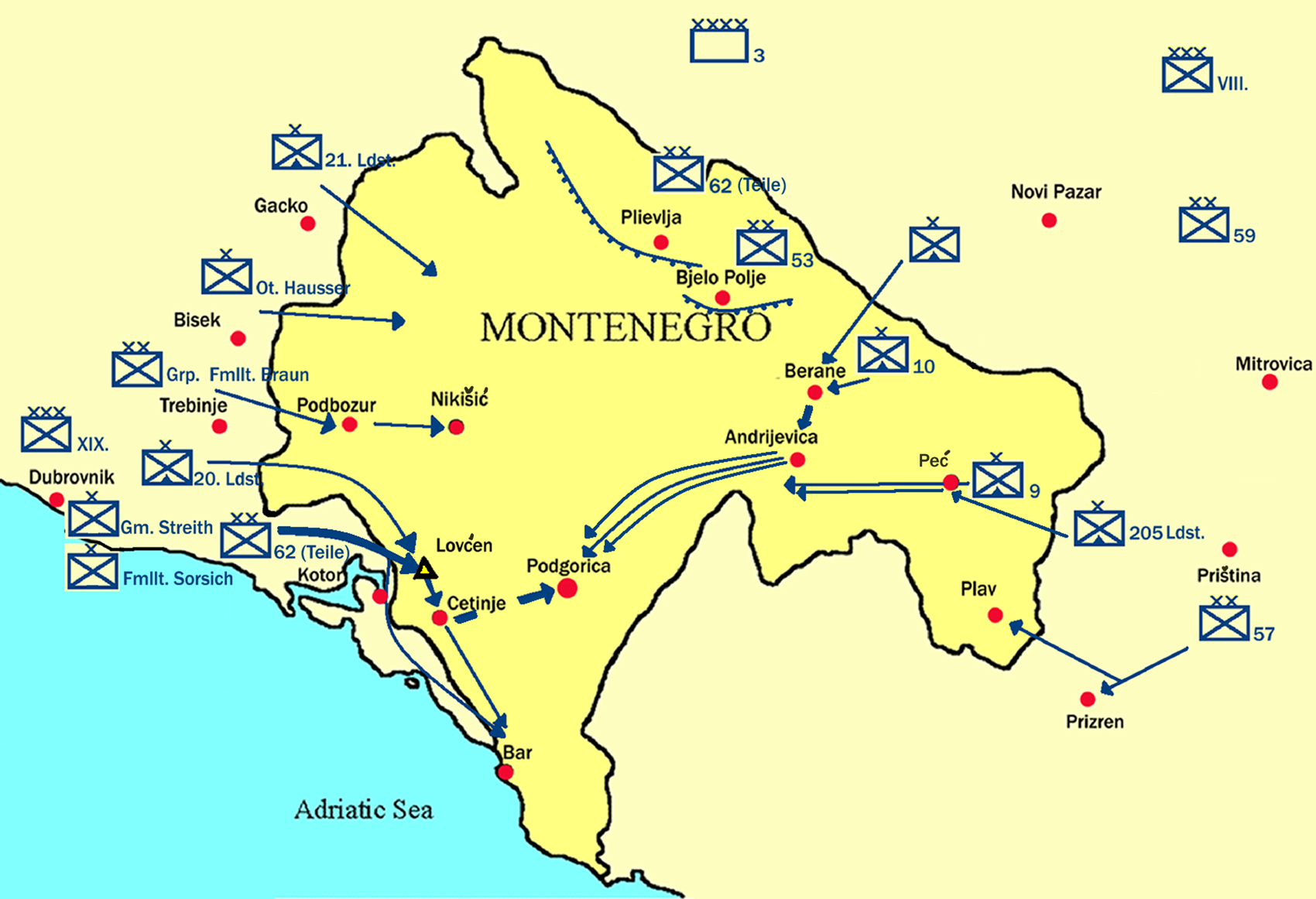 Montenegrin Campaign Of World War I Wikipedia