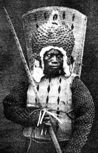 Nauruan warrior, 1880