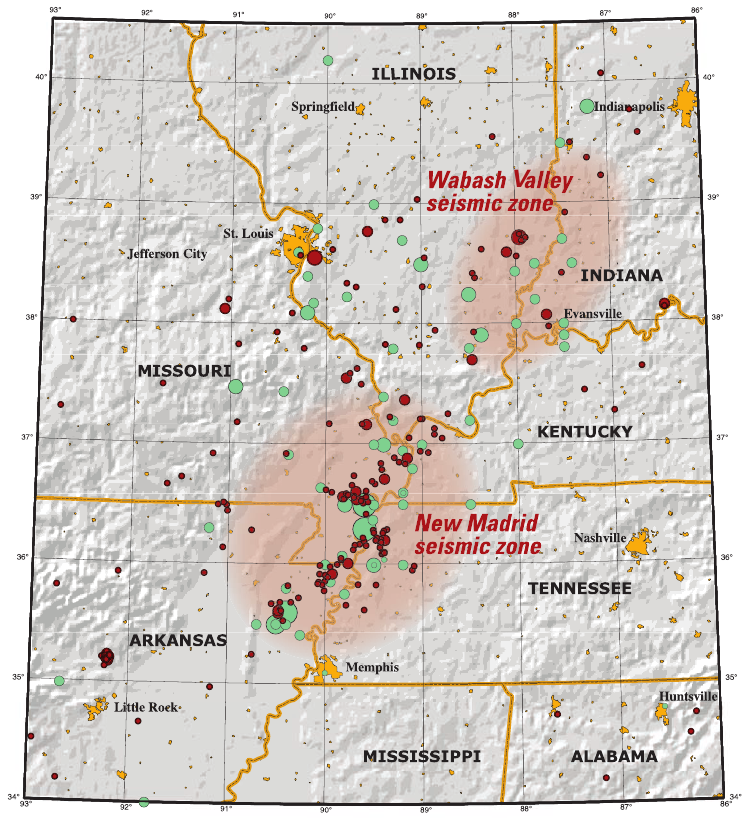 New Madrid Seismic Zone Wikiwand - Fault line map us