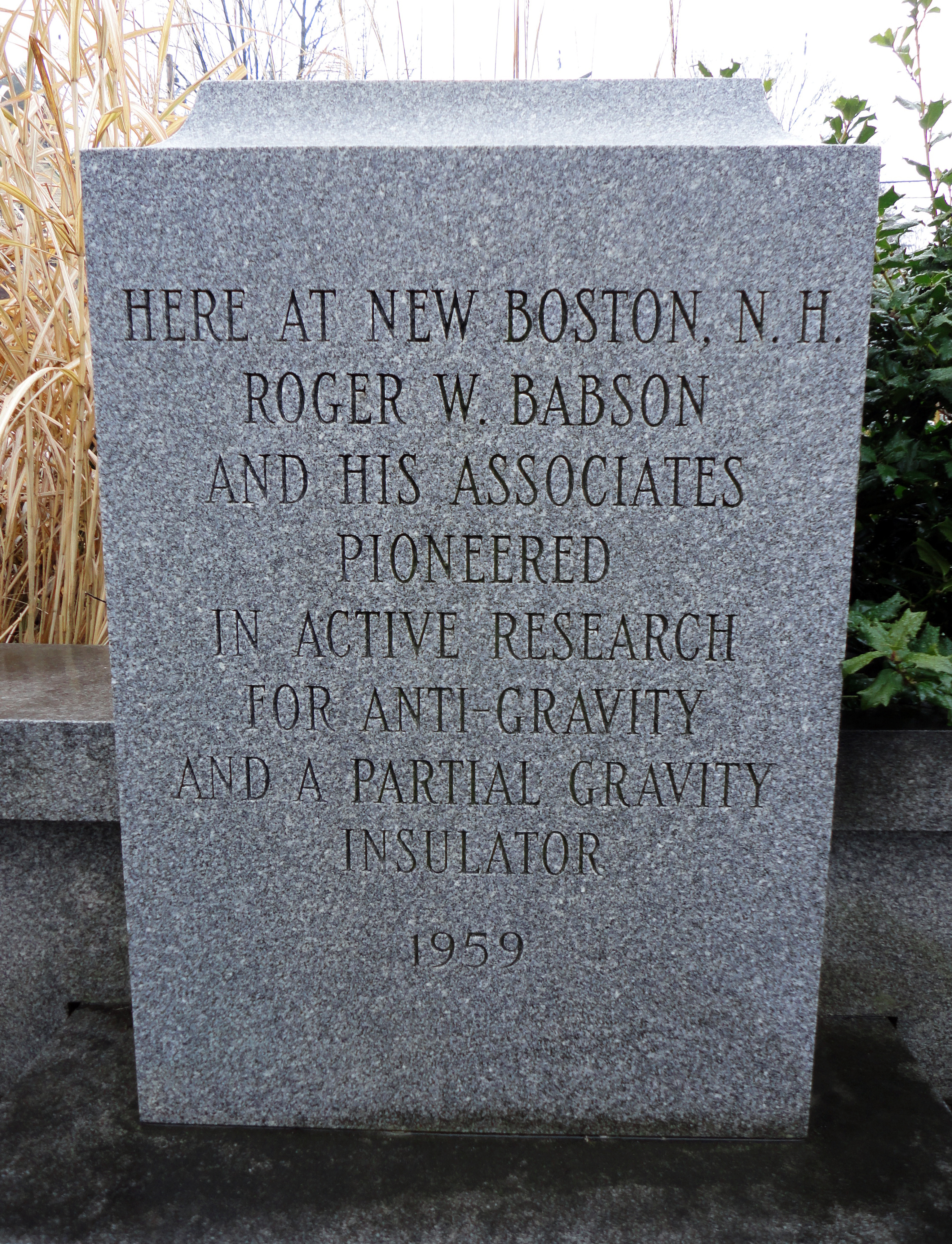 Roger Babson Monument